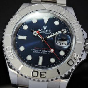 ROLEX ヨットマスター ロレジウム 116622 SSxPT ブルーダイヤル 中古時計