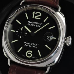 ラジオミール ブラックシール PAM00287 SSx革 【委託時計】