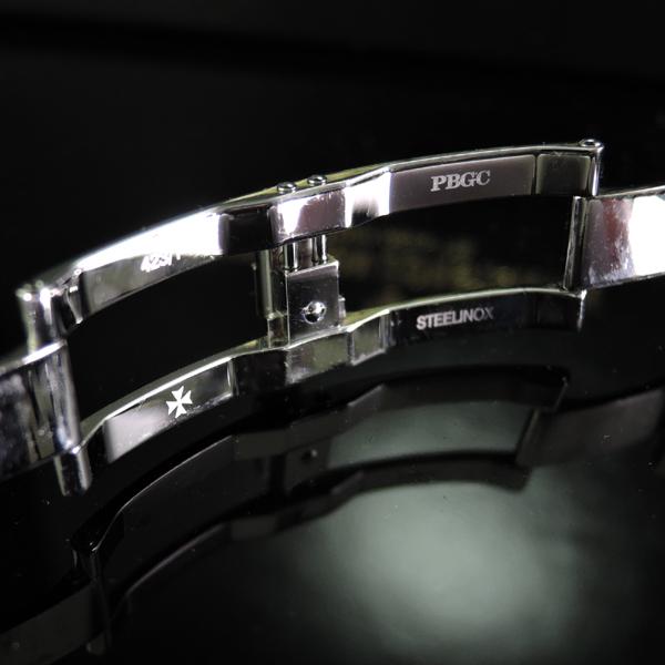 オーバーシーズ ミディアム 42052/423A 黒文字盤 日本正規品 保証書付【中古時計】