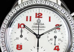 OMEGA スピードマスター 3515-79 3515.79 保証書有り シェル文字盤 レディース  【委託時計】