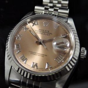 デイトジャスト 16234 ピンク T番 保証書有り 【中古時計】