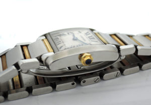 CARTIER タンクフランセーズSM W51007Q4 レディース時計 白文字盤 クォーツ コンビ 【委託時計】