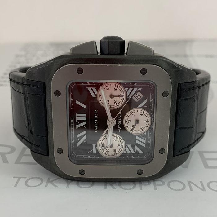カルティエ Cartier サントス 100 XL W2020005 クロノグラフ  自動巻 デイト チタン JU1403R