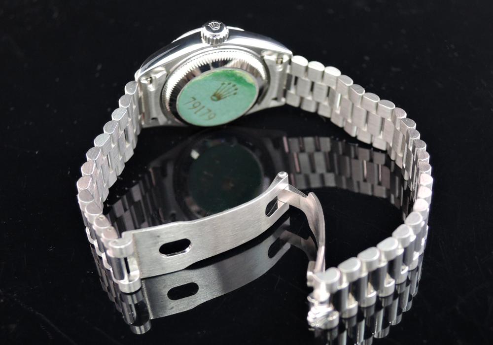 ROLEX 79179G デイトジャストP番 シルバーダイヤル 10Pダイヤ 付属品有 弊社保証有 【委託時計】