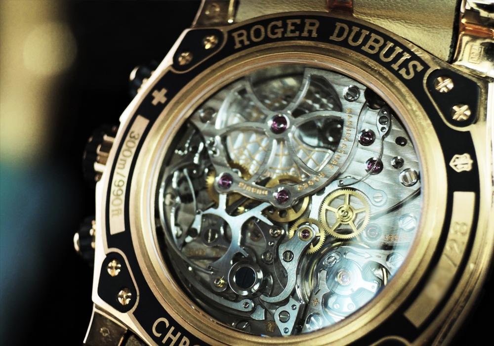 ROGER DUBUIS ニューイージーダイバー DBSE0283 18KPGx革 クロノグラフ 世界限定28本 【委託時計】