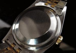 ROLEX 16233G デイトジャストW番 ホリコンダイヤル 10Pダイヤ 18YGxSS シャンパンG 【委託時計】