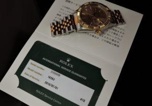 ROLEX デイトジャスト サンダーバード 16263 S番 シャンパンG K18YGxSS OH済
