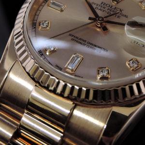 デイデイト118235A ピンクゴールド 10Pダイヤ 付属品有 美品