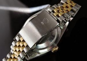 ROLEX デイトジャスト16233G U番 シャンパンG 18KYGxSS 10Pダイヤ 保証書有 【委託時計】