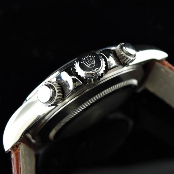 ROLEX 16519NG デイトナWGx革 ピンクシェル 8Pダイヤ
