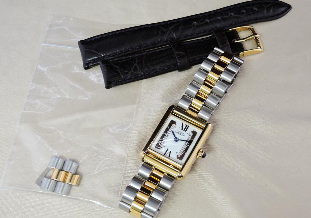 Cartier マストタンク コンビ GPxSS クオーツ 【委託時計】