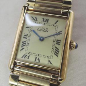 Cartier マストタンク ボーイズ GPゴールド クオーツ 【委託時計】