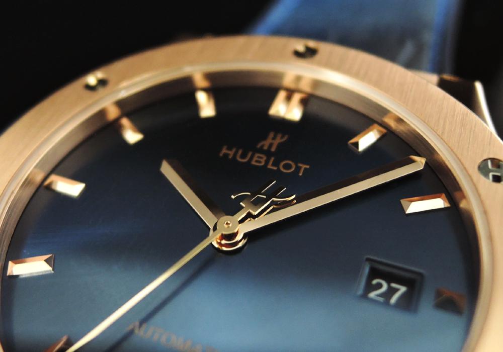 HUBLOT クラシックフュージョン キングゴールド ブルー 542.OX.7180.LR 付属品完備 美品