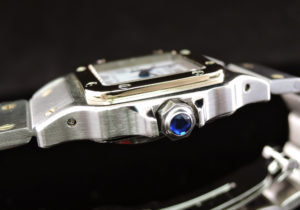 Cartier サントスガルベSM 自動巻 白文字盤 研磨仕上げ