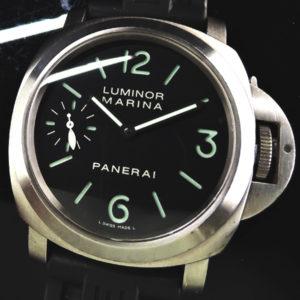 PANERAI ルミノールマリーナ PAM00177 チタンxラバー 手巻き 生産終了モデル