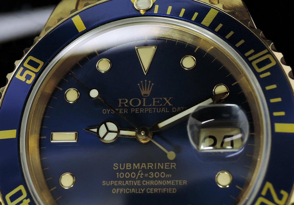 ROLEX サブマリーナ 16618 N番18KYG 青ダイヤル