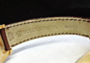 ROLEX デイトジャスト 116138 F番 18KYGx革 白文字盤 日ロレ正規品