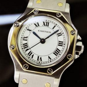 カルティエ Cartier サントスオクタゴンSM 自動巻 レディース 時計 研磨仕上げ cz3273 【委託時計】
