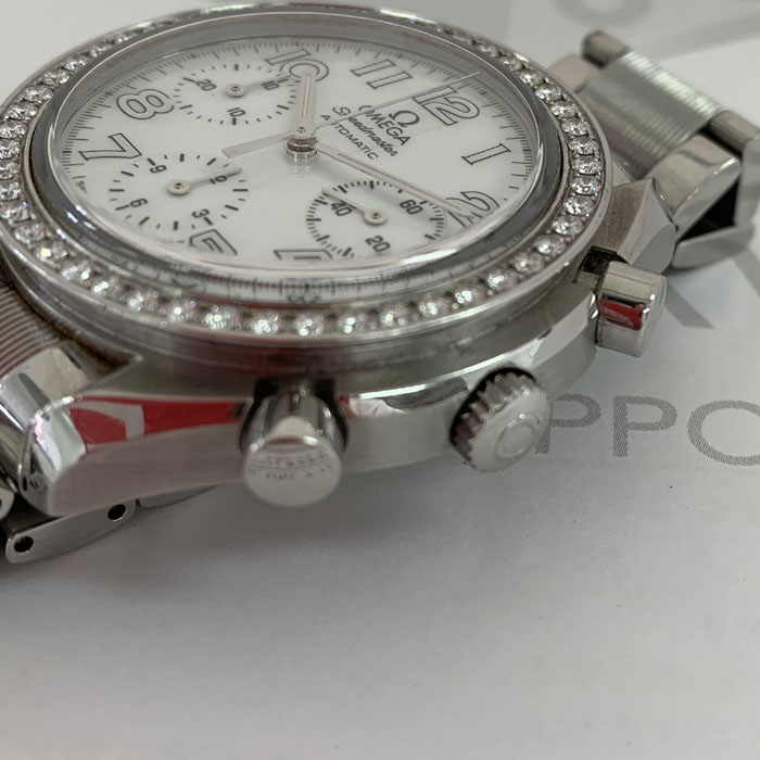 オメガOMEGA スピードマスター 3535.70 ダイヤ クロノグラフ 男女兼用 自動巻 保証書 J3776