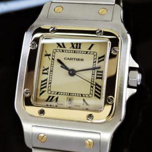 Cartier サントスガルベLM クオーツ コンビ 研磨仕上げ 男性用 時計 【委託時計】
