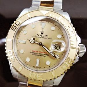 ROLEX ヨットマスター16623 F番 シャンパン 保証書有 【委託時計】