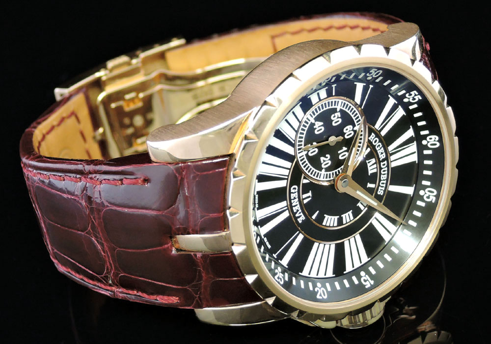 ROGER DUBUIS エクスカリバー E45-77-00 18KYGx革 世界限定28本 【委託時計】
