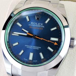 新品 ROLEX 116400GV ミルガウス Zブルー ランダム品番 保証書有 シール付