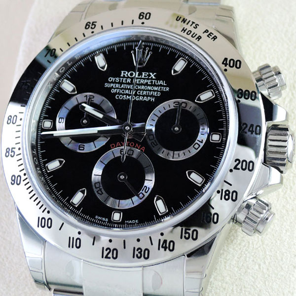 100% authentic 0e040 172a5 新品 ROLEX デイトナ 116520 黒 ランダム品番 SS 保証書有 保護 ...