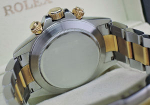 ROLEX デイトナ 16523G A番 エルプリメロ搭載 SSxYG 8Pダイヤ 黒文字盤 保証書有 【委託時計】