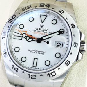 新品 ROLEX エクスプローラーⅡ216570 ランダム品番 白文字盤 保証書有 保護シール付