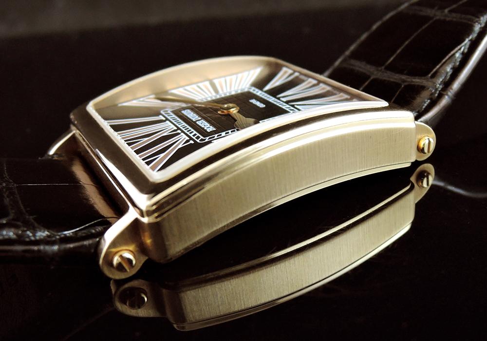 ROGER DUBUIS ゴールデンスクエア G40 14 5 G99.72 18KPGx革 自動巻 箱付