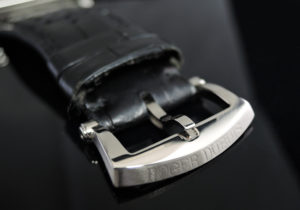 ROGER DUBUIS ゴールデンスクエア G37 18KWGx革 自動巻 世界限定28本 【委託時計】
