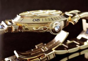 CARTIER パシャ38mm グリッドダイヤ 18KYG 定価800万 【委託時計】