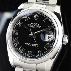 ROLEX デイトジャスト 116200 ランダム品番 黒文字盤 保証書有