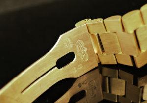 ROLEX デイデイト18038 18KYG無垢 レッドグラデーション 10バケットダイヤ 28ポイントダイヤ 【委託時計】