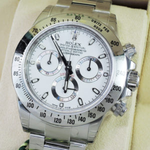 新品 ROLEX デイトナ 116520 白 ランダム品番 SS 保護シール付