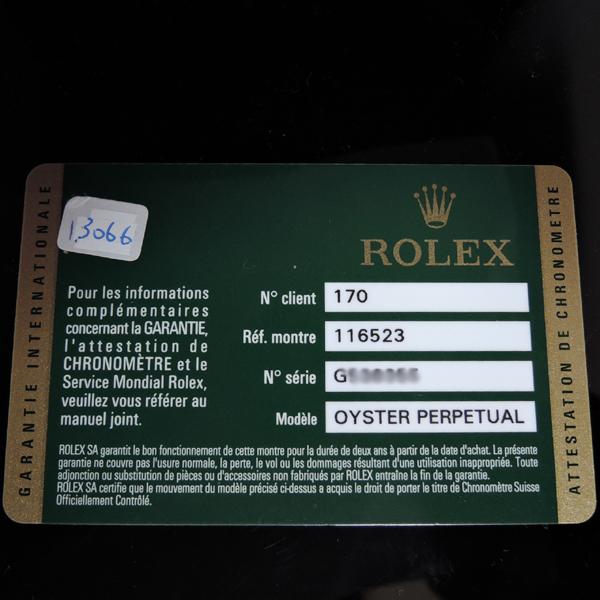 ROLEX デイトナ Ref.116523G G番 SSxYG 黒文字盤【中古時計】