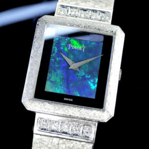 PIAGET 18KWG 手巻き ブラックオパール文字盤 ブレスダイヤ アンティーク  【委託時計】