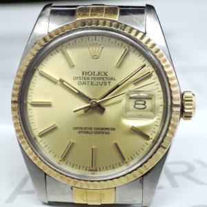 ROLEX デイトジャスト 16013 7~番 18KYGxSS シャンパン 【委託時計】