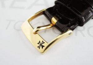 VACHERON CONSTANTIN パーペチュアルカレンダー 43031/1-0223 18KYGx革 OH済 【委託時計】