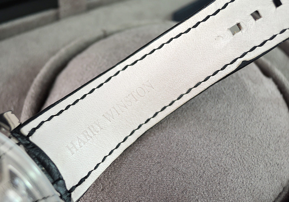 HARRY WINSTON ミッドナイト MIDAMP42WW001 18KWG レトログラード ムーンフェイズ 保証書有 【委託時計】