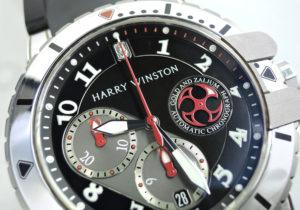 HARRY WINSTON オーシャンダイバークロノグラフ 410/MCA44WZ ホワイトゴールド 18KWG 保証書有 【委託時計】