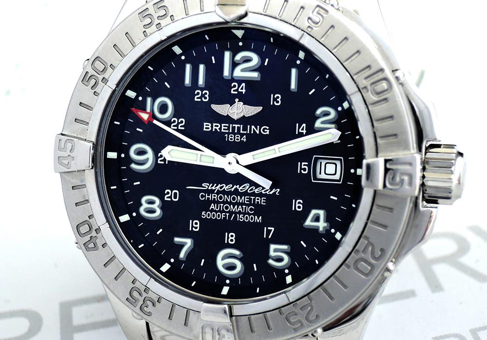 BREITLING スーパーオーシャン A17360 自動巻 保証書有 【委託時計】