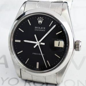 ROLEX オイスターデイト 6694 1~番台 黒 リベットブレス 【委託時計】