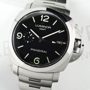 PANERAI ルミノール1950 GMT PAM00329 44mm 自動巻 バックスケルトン 保証書有 【委託時計】