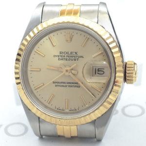 ROLEX デイトジャスト 69173 E番 レディース コンビ シャンパンゴールド 【委託時計】