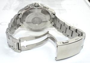TAG HEUER ニューアクアレーサー 300m クロノグラフ CAF7010 黒文字盤 メンズ腕時計 クォーツ 【委託時計】