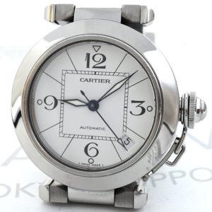 Cartier パシャC 自動巻 腕時計 ボーイズ SS 白文字盤 【委託時計】