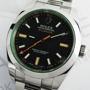 新品 ROLEX ミルガウス116400GV V番 保証書有 【委託時計】