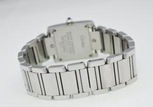 カルティエ CARTIER タンクフランセーズSM レディース 腕時計 白文字盤 クォーツ CF4917